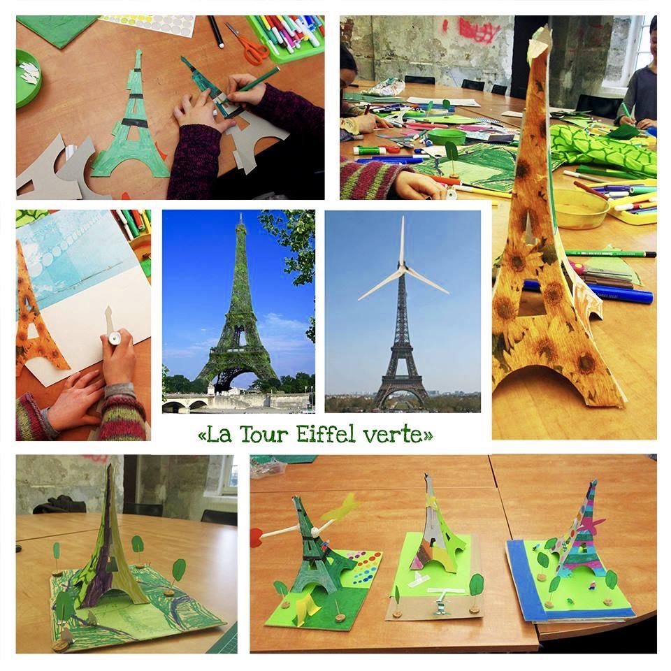 Exemplo de atividades para criança. Construção da Torre Eiffel