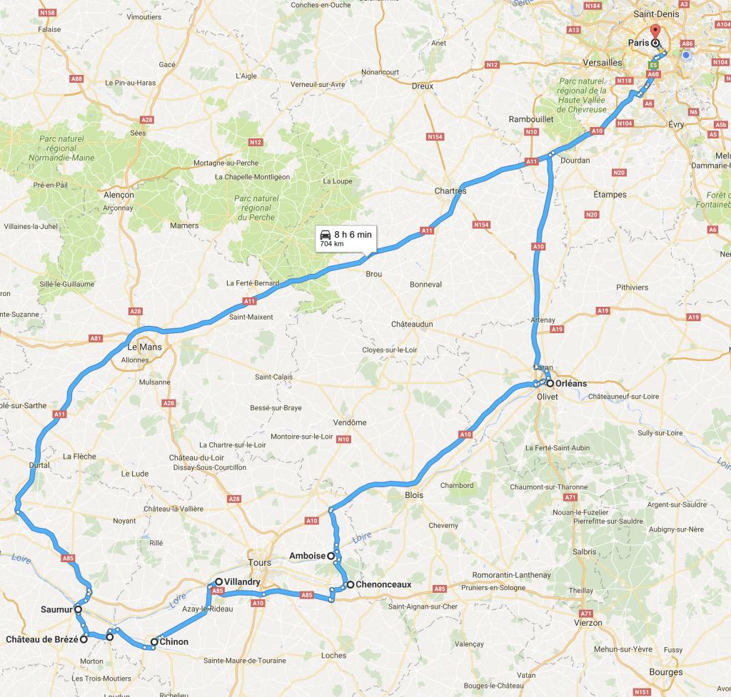 roteiro vallée de la Loire