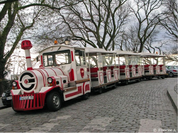 Description: Resultado de imagem para Le petit train de Montmartre